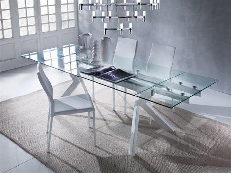 tavoli allungabili vetro elegante tavolo allungabile con piano in vetro idfdesign
