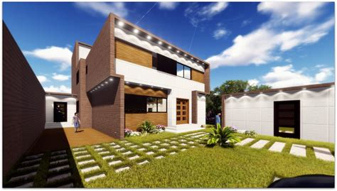 Glass Facades free illustration ultra modern villa wooden facade