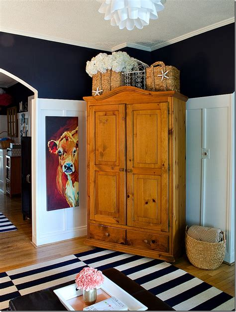 Armoire In Living Room by Navy White Living Room Board Batten Reveal Armoire