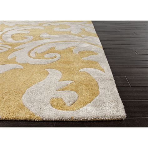 yellow pattern area rug jaipur rugs transitional floral pattern yellow ivory wool