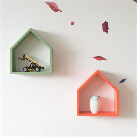 House Shelf modern wall shelf decorative house treebird in 6