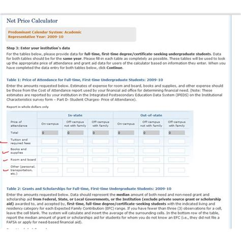 net price calculator template college net price calculators decide if you can afford
