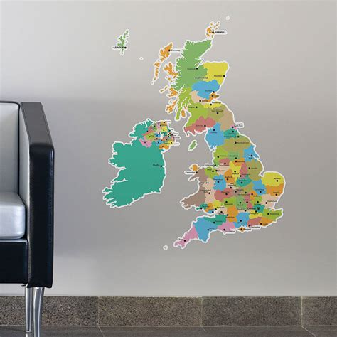 map of the uk wall stickers by the binary box - Uk Wall Stickers