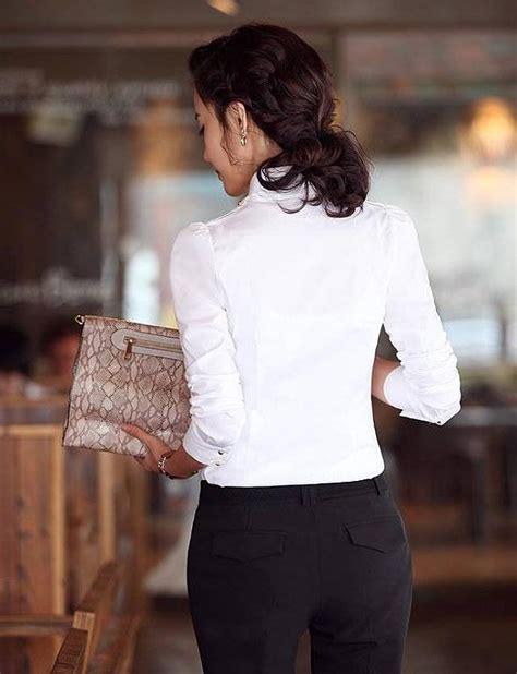 K38928 Kulot Panjang Jumbo Import kemeja kerja wanita import putih ukuran besar model terbaru jual murah import kerja