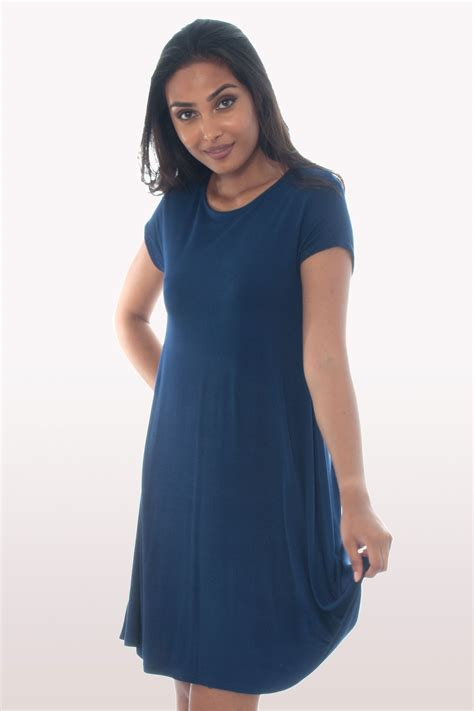 navy blue swing dress navy blue short sleeve swing dress dresses modamore