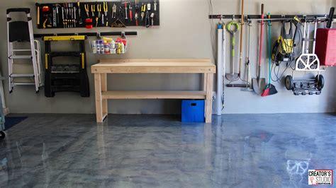 metallic garage floor makeover rust oleum creators