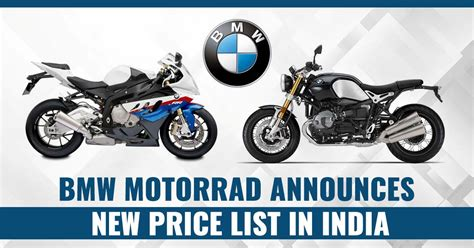 Bmw Motorrad India Price List by Bmw Motorrad Announces New Price List In India