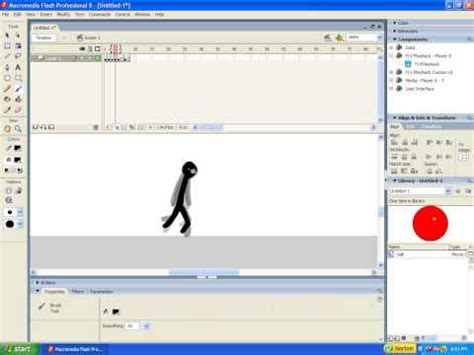 tutorial flash 8 youtube macromedia flash 8 running walking youtube
