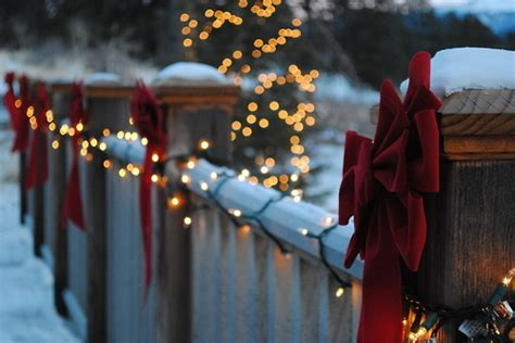 christmas decorations for fences tips on decorating your fence for the holidays