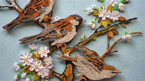Essay On The Bird Sparrow by Paper Quilling Sparrow New Design 2017