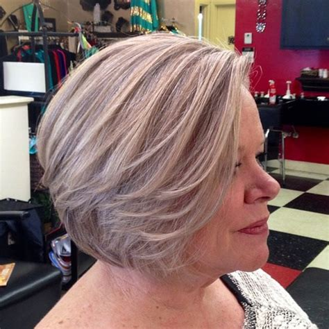 blonde bob over 50 60 gorgeous hairstyles for gray hair