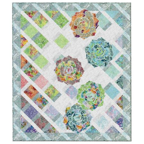 Missori Quilt by Summer Trellis Quilt Kit Flaurie And Finch Rjr Fabrics