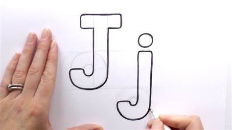 Letter J Drawing by How To Draw A Letter J And J