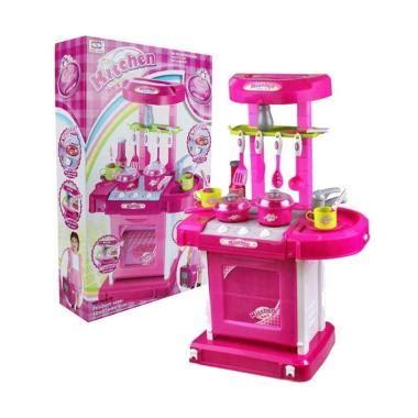 Mainan Masak Masakan Anak Fashion Mini Kitchen Set Koper Merah jual toystoys 0960150089 masak masakan kitchen set koper mainan anak pink harga