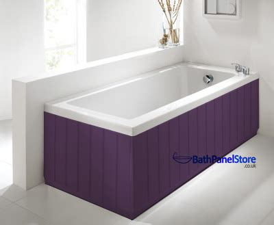 B Q Shower Bath tongue and groove aubergine 2 piece adjustable bath panels