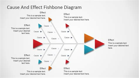 fishbone diagram powerpoint template flat fishbone diagram for powerpoint slidemodel