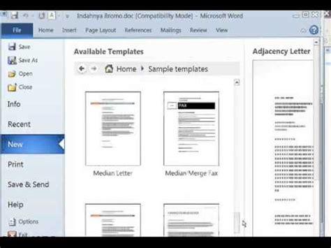 membuat cv dengan virtual office cara membuat curriculum vitae dengan template ms word