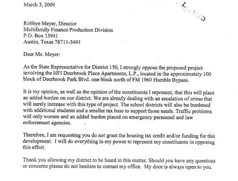 Support Letter For Department Of Housing The House Always Wins