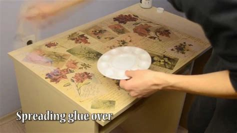 How Do I Decoupage - how to decoupage desk in retro style decopatch