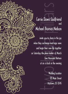 mehndi card template free paisley invitation template to