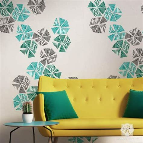 Ceramic Wall Tile Murals wall art amp wall mural stencils for painting diy wall