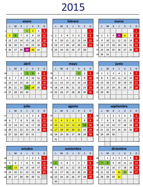 Calendario Dias Festivos 2015 Calendario Laboral 2015
