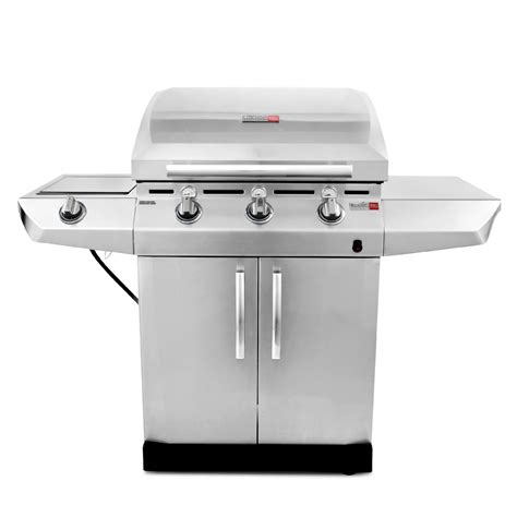 char broil tru infrared performance 3 burner gas grill with side burner and storage cabinet