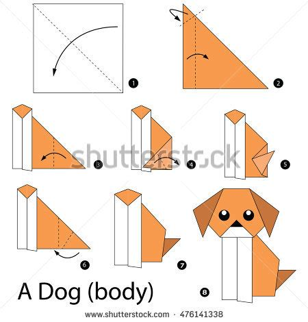 How Do You Make A Paper House - step by step how make stock vector 476141338