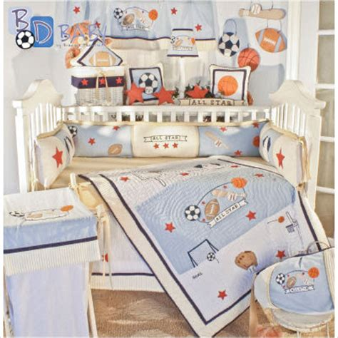 Boy Sports Crib Bedding I Pears Sports Theme Nursery