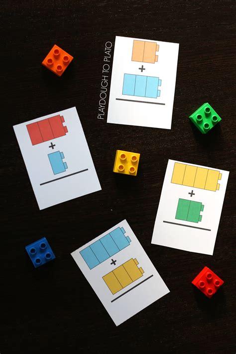 printable lego card lego addition cards playdough to plato
