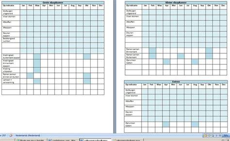Voorbeeld Schoonmaakrooster Toilet by Schoonmaak Schema Jaar Maand Checklist Clean Organised