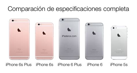 tabla comparativa iphone 6s plus vs iphone 6 plus vs iphone 5s especificaciones en ipaderos