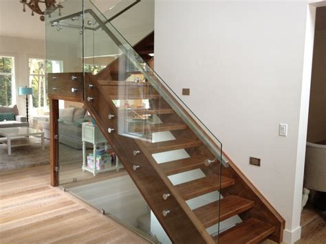 glass banister for stairs interior modern stairs designs with wooden treads and