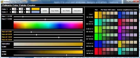colour palette maker phimatrix golden ratio color palette generator