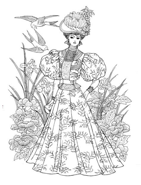 nouveau coloring book nouveau fashions coloring book dover publications