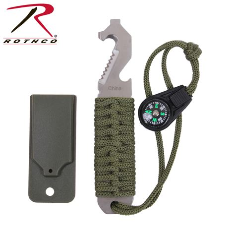 Survival Kit Outdoor Tactical Multi Tools B9 rothco paracord survival pry tool