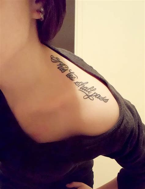tattoos girly quote tattoos on shoulder