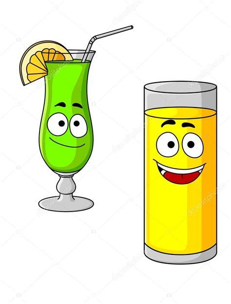 imagenes de jugos naturales animados vasos feliz de dibujos animados de zumo de fruta y c 243 ctel