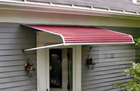 aluminum door canopy aluminum awnings for out swinging