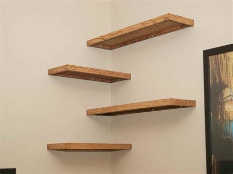 How To Build A Floating Corner Shelf by Corner Shelves On