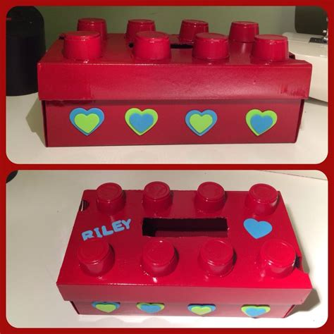 boy box decorating ideas lego box valentines day