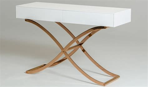 modern white console table a x aversa modern console table mirror in white free