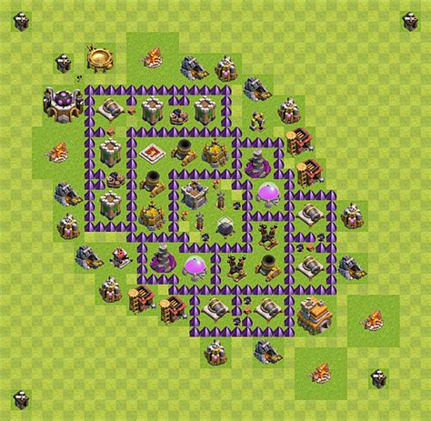 layout vila nivel 7 layout de farm clash of clans n 237 vel da centro de vila 7