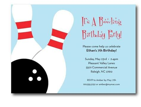 Bowling Birthday Party Invitation Printable Bowling Invitation Template Word