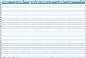 Address Template For Excel by Address List Template
