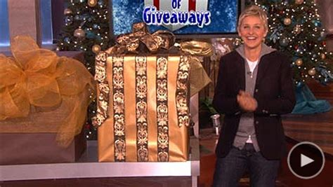 Ellen 12 Days Of Giveaways List - ellentv 12 days of giveaways