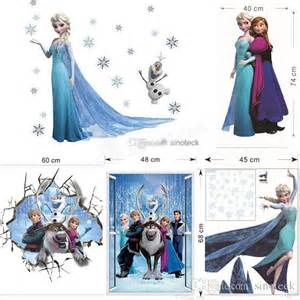 Disney Princess Room Decor Christmas Wall Stickers Wallpaper Rolls Removable Frozen