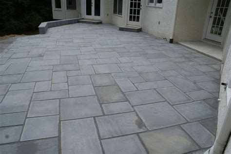 Cut Flagstone Patio by A Large Formal Patio With Cut In A Random Pattern