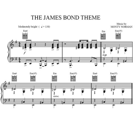 theme music james bond free download the james bond theme sheet music purple market area