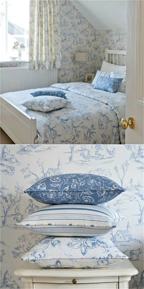 cottage blue white toile blue and white bedroom bedrooms light beautiful linens blue white